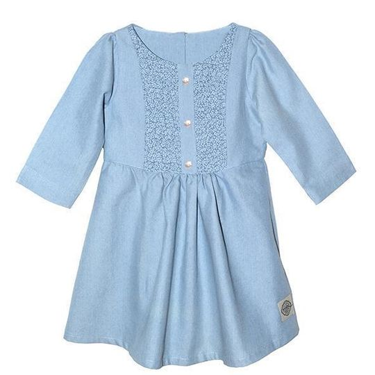 Dress / Girls - Denim Chambray - M0363