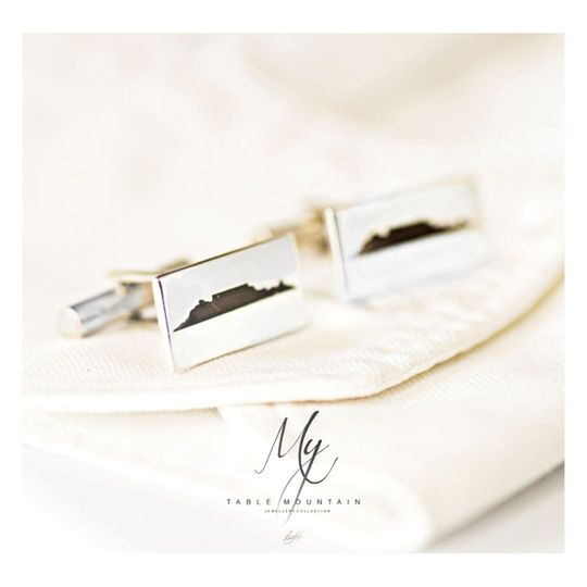 Table Mountain Silver Cufflinks