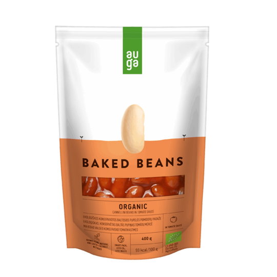 Auga organic baked beans in tomato sauce 400g