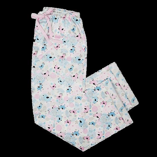 Long Pants - Elastic Tie Birds