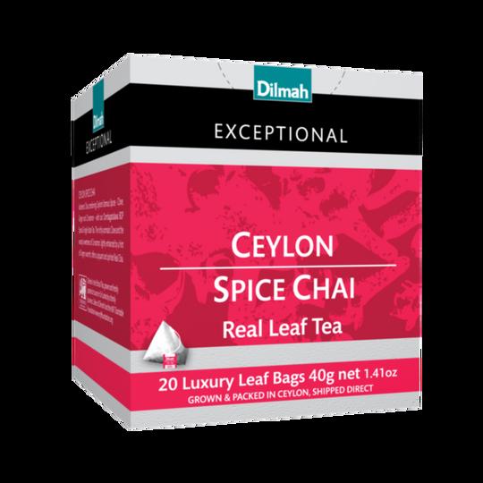Dilmah Exceptional Ceylon Spice Chai (20 x 2g luxury leaf tea bags)