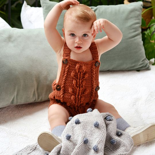 Bobble Romper – Karoo merino Wool – Baby
