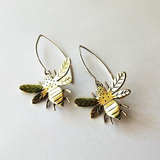 BUMBLE BEE Dangly Earrings