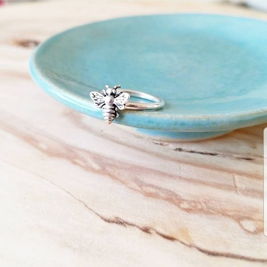 Sterling silver Bee stacking rings