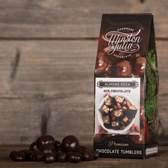 Almond Roca tumbled in 56% Chocolate in 150g Box