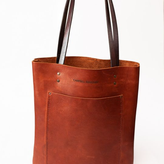 The Leather Long shopper - Brown