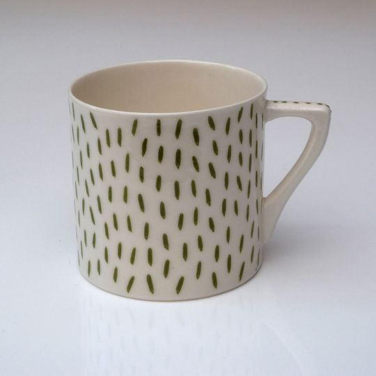 Olive Green Dashes Mug