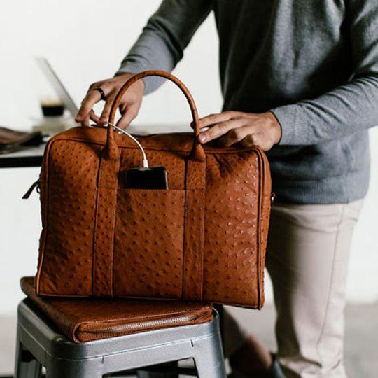 Briefcase, Ostrich