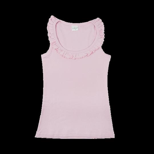 Ladies Sleeveless - Frill Pink