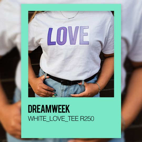 DREAMWEEK WHITE_LOVE_TEE