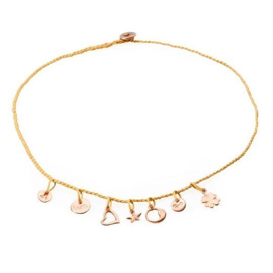 FANCY Braided Necklace & Choker Luck - Copper