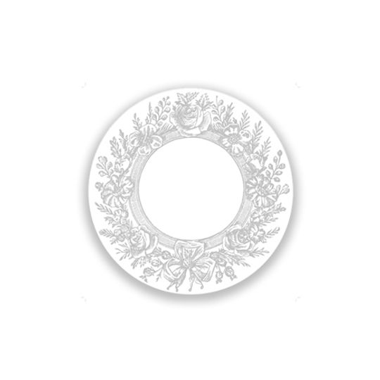 24 Coasters - Grey Wreath