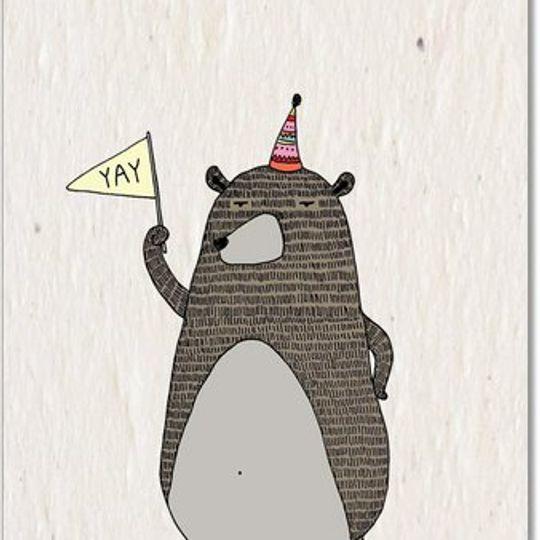 Greeting Card | Celebrating Bear