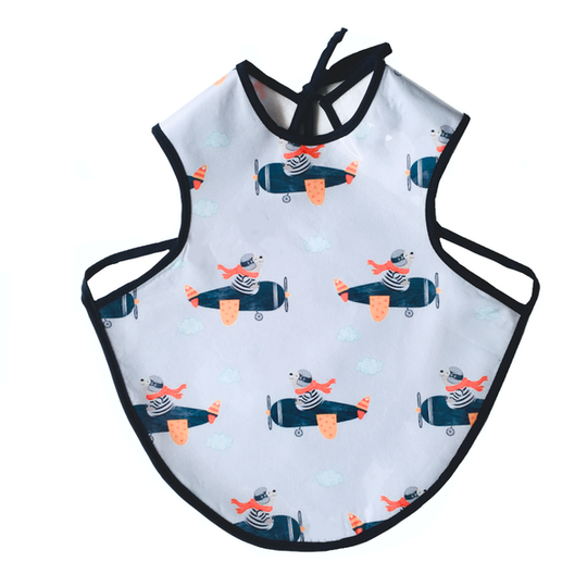 Airplane Bear Easy-Care Bib