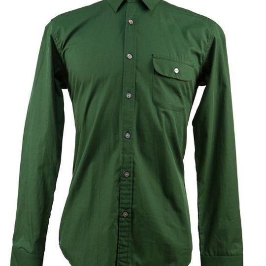 Men's Hunters Green Long Sleeve Shirt