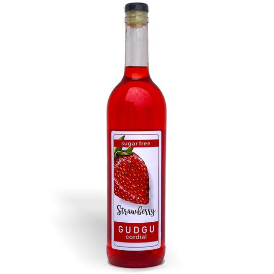 GUDGU SugarFREE Strawberry Cordial 750ml