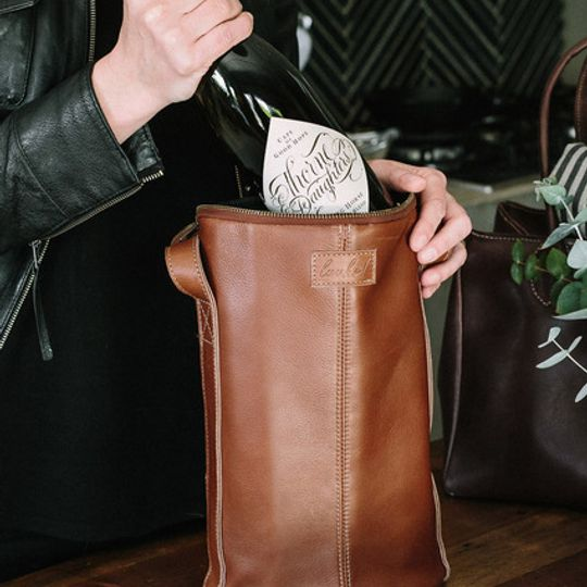 JACK leather wine cooler