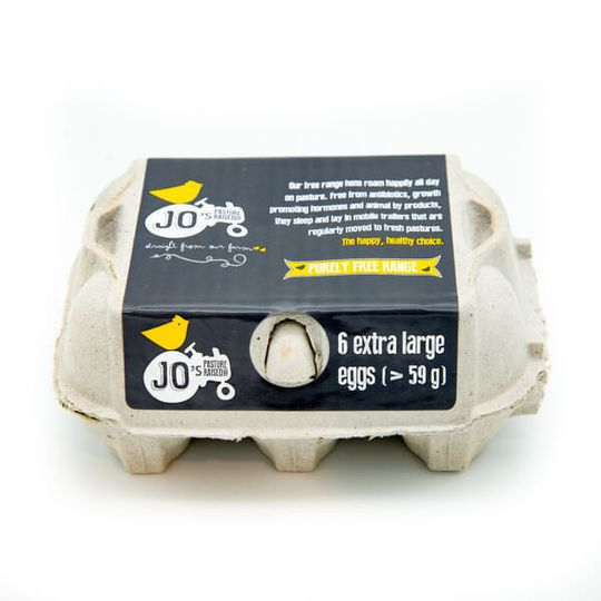 JO Free Range Xl Eggs 6 Pasture Raised