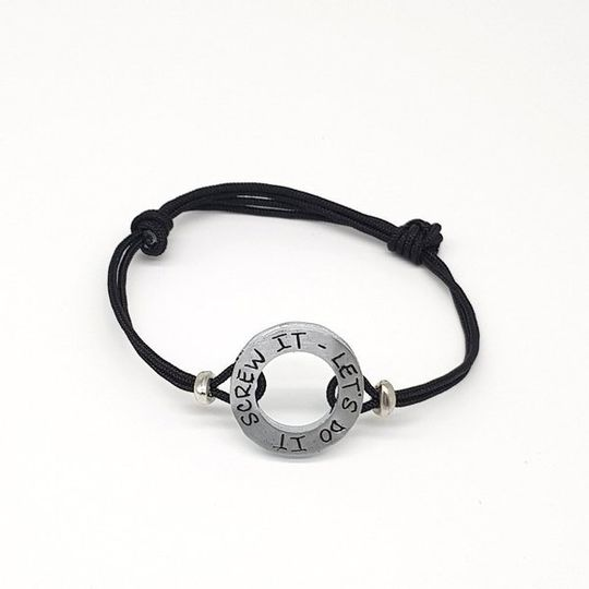HERO Black Cord Bracelet - Screw it, let's do it