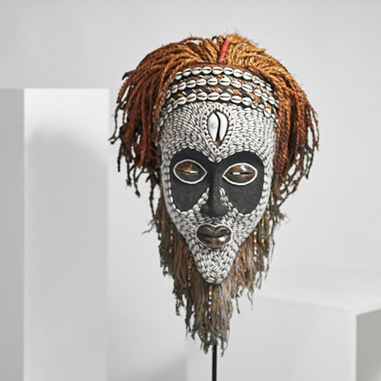 Black and White African Mask