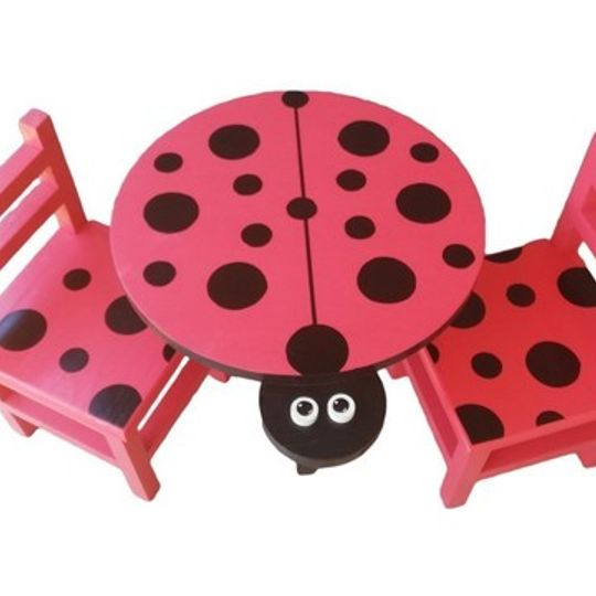 Ladybird Table (Medium) and 2 Chairs Set