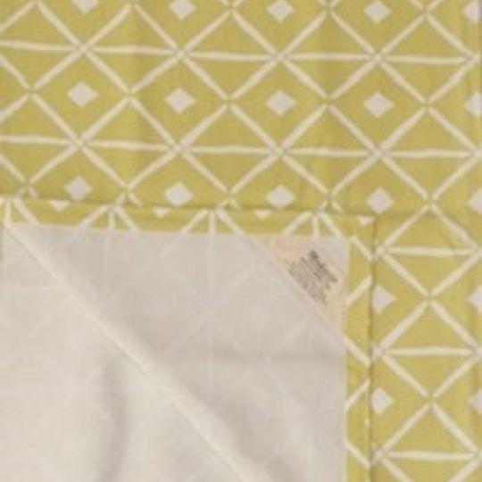 Lemon yellow verandah print runner on 100%cotton