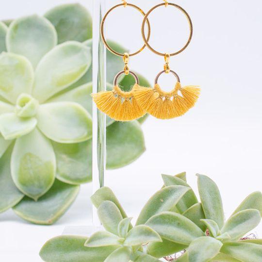 Tassel Cluster Earrings