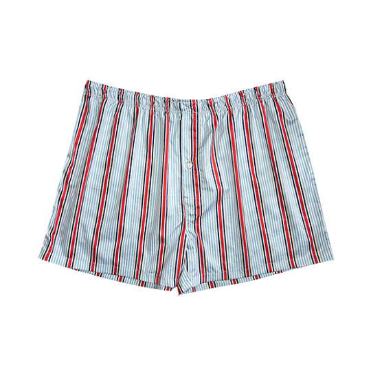 Mens Boxer Shorts Red Stripe