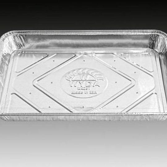 W4051 - 6 Bun aluminium foil tray with holes.