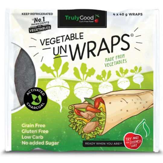 Low-Carb Vegetable Wrap With Added Charcoal