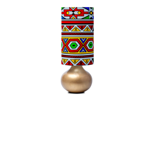 Ndebele Gold Table Lamp