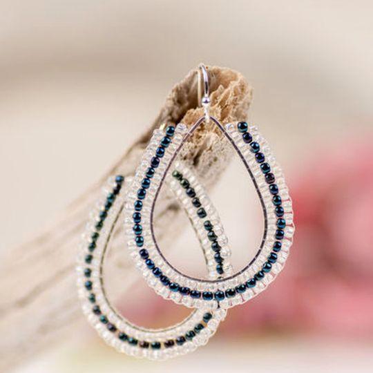 Tear Drop Shape Miyuki Seed Beaded Earrings