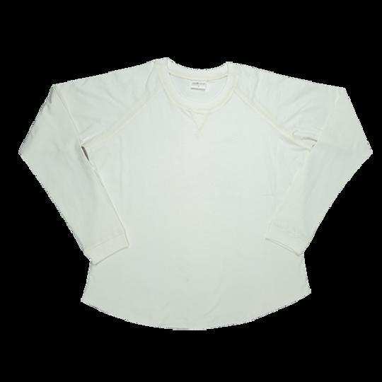 Ladies Long Sleeve - V-Detail Cream