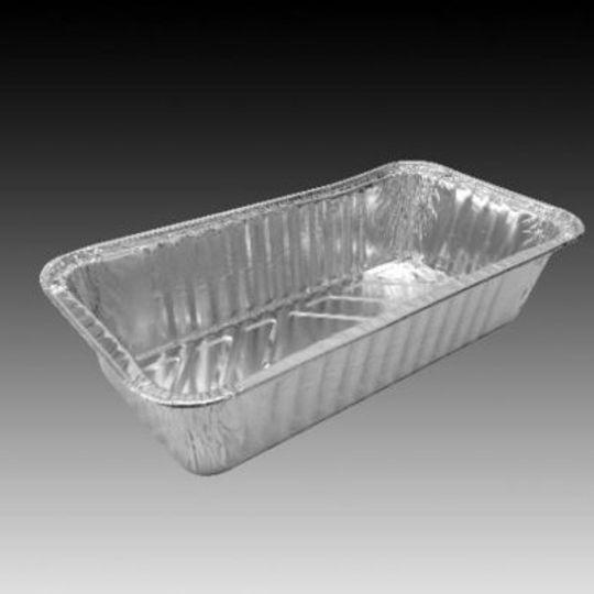 W4161- Medium sized aluminium foil loaf pan with 850ml capacity.