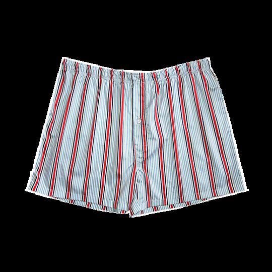 Mens Boxer Shorts Red Stripe