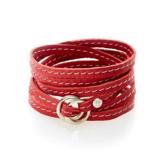 REBEL Versatile leather wrap Red