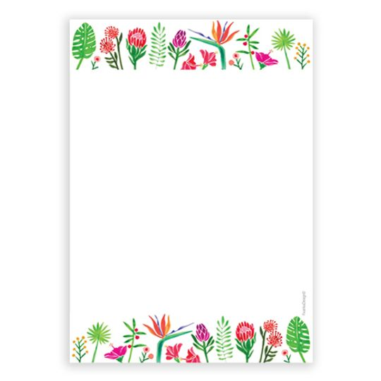 A6 Notebook - Flower Borders