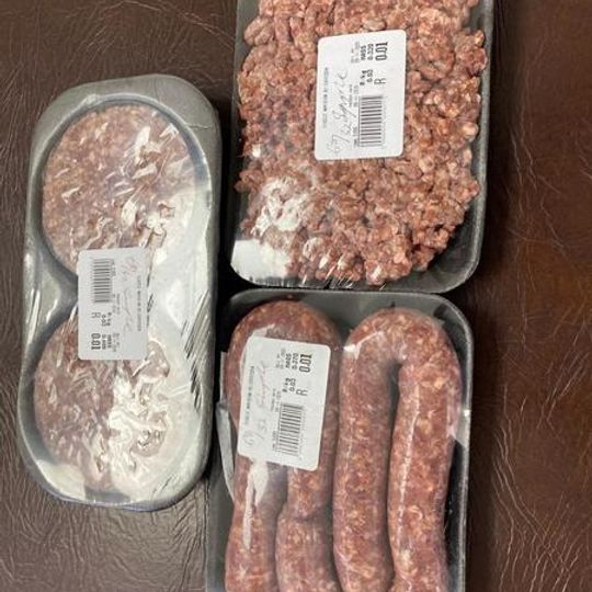 Beef Mince, Patties & Wors - 68/32