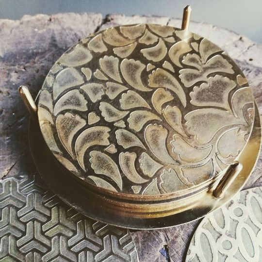 ETCHED FLAT COASTER