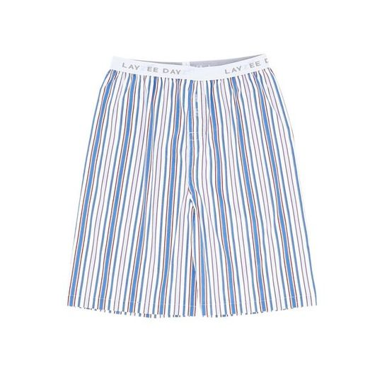 Boys Short Pants (Long Shorts) Blue Stripe