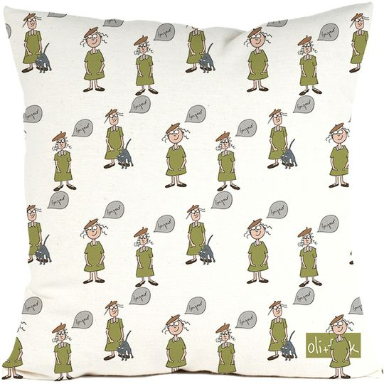 French girls cushion cover