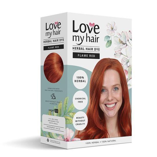 Love My Hair Flame Red Herbal Dye