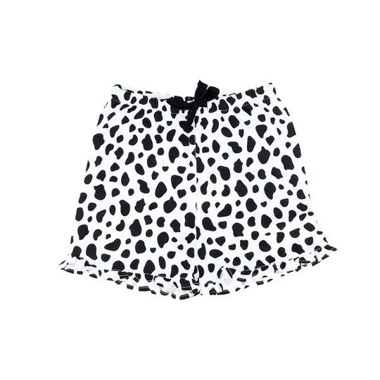 Girls Short Pants - Frill Cow (Cotton Knit)
