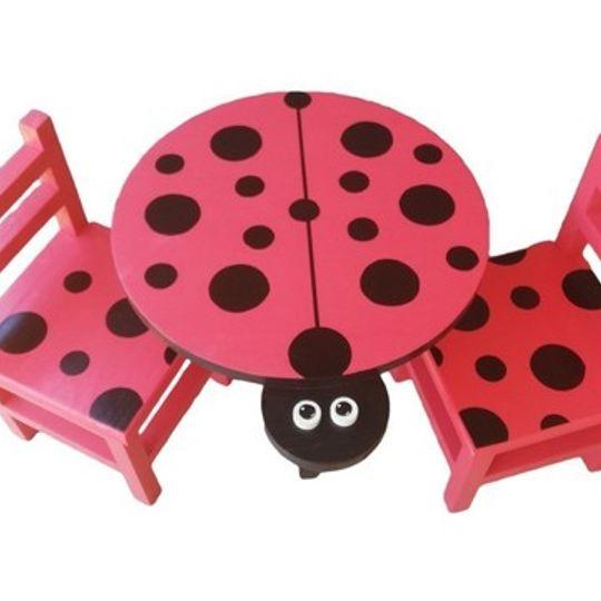 Ladybird Table (Medium) and 2 Chairs Set