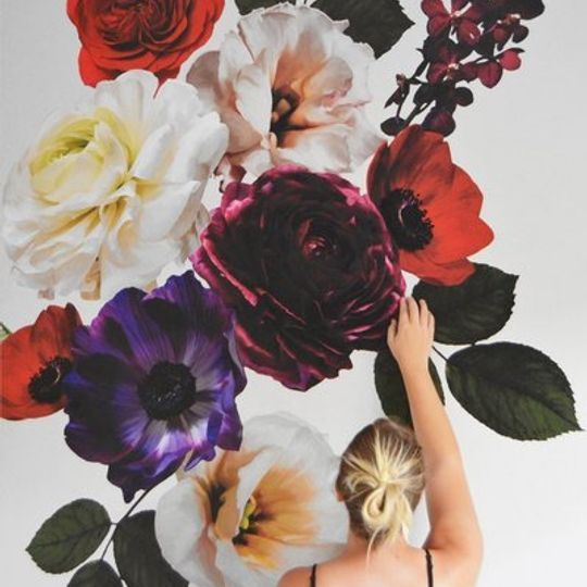Dramatic Floral Collage
