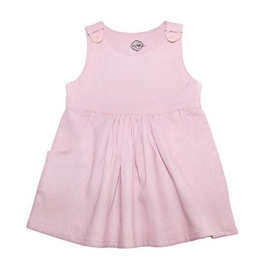 Dress / Girls - Dusty Pink Pinafore - M0362