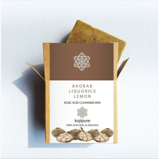 Baobab, Liquorice & Lemon Kojic Acid Cleansing Bar
