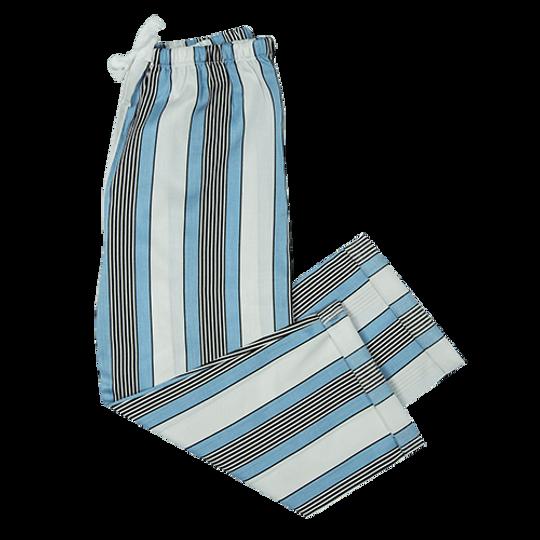 Girls Long Pants Unisex Blue Stripe