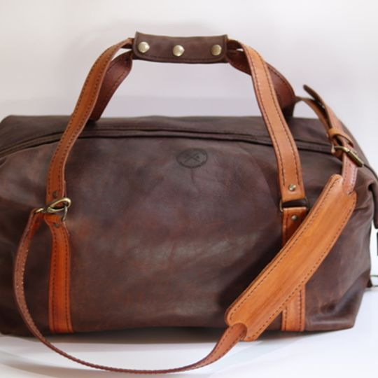 The Leather Duffle Bag - Brown