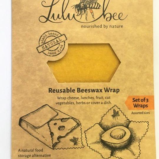 Reusable Beeswax Food Wrap  (set of 3)